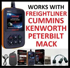 HEAVY DUTY DIESEL TRUCK DIAGNOSTIC SCANNER TOOL CODE READER FREIGHTLINER CUMMINS