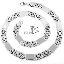 Men's Necklace Stainless Steel King's Chain Curb 55 cm 1 100 g Silver