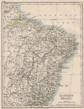 Eastern brésil. bahia minas gerais pernambuco marabhao. johnston 1900 old map