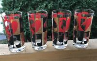 Vintage Drink Glass Poker Mid Century Modern Colony Glassware Set