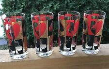 Colony Poker Glasses Barware Set Mid Century Modern 1960s Vintage Host