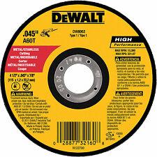 Dewalt DW8062 Metal Stainless High Performance Cut Off Wheel 4-1/2  100 Unit