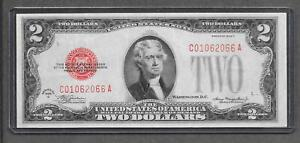 1928 C RARE C-A Block - $2 EF+ Red Seal Legal Tender Note