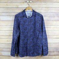 Boden Women's Relaxed Weekend Shirt Long Sleeve Button Front Top Sz 12 Blue