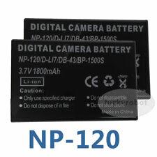 2x 1800mAh NP-120 Battery For Fujifilm FinePix Optio 450 F10 F11 D-LI7 M603 450