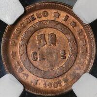 1907 NGC MS 63 Honduras 1 Centavo Large UN Coin (20100401C)