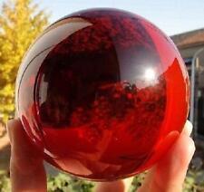 80mm + Stand huge Rare Natural Quartz Red Magic Crystal Healing Ball Sphere