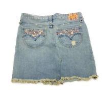 Levis Deconstructed Distressed Light Wash Above Knee Blue Denim Skirt Juniors 11