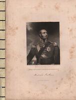 C1830 Antico Stampa ~ Edward Duca Di Kent & Strathearn ~ Facsimile Signature