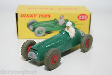 DINKY TOYS 233 COOPER BRISTOL RACING CAR RED PLASTIC HUBS MINT BOXED RARE SELTEN