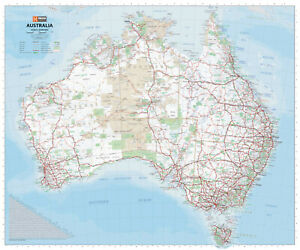 (LAMINATED) MAP OF AUSTRALIA POSTER LARGE DETAILED (75x63cm) PICTURE PRINT NEW