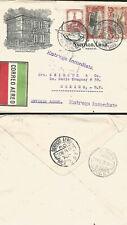 J) 1929 MEXICO, CUAUHTEMOC MONUMENT, EAGLE OVER MOUNTAINS, MAILMAN, IMMEDIATE DE