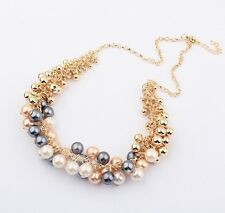 Fashion Jewelry Crystal Women Pendant Chain Chain Bib Statement Pearl Necklace