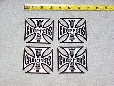 JESSE JAMES CFL WEST COAST CHOPPERS Cross Metal Appearance Decal Sticker Lot Set