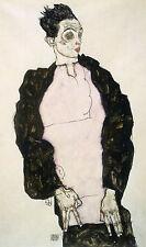 Egon Schiele Reproductions: Self Portrait in Dark Suit - Fine Art Print
