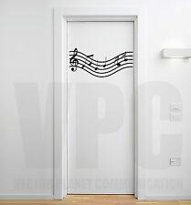wall stickers pentagramma note musicali musica adesivi porta camera specchio