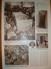 Article Pharaoh's Tomb discovered Saqqara Egypt 1954