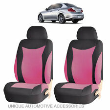 PINK & BLACK SPEED AIRBAG COMPATIBLE FRONT LOWBACK SEAT COVERS SET FOR CARS 184
