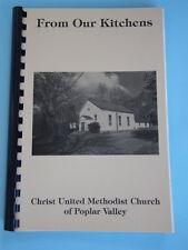 CHRIST UNITED METHODIST CHURCH OF POPLAR VALLEY PA COOKBOOK RECIPES