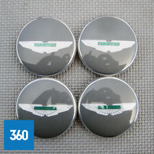4 NEW GENUINE ASTON MARTIN GREY GREEN CENTRE CAPS HUB BADGES HY53-1A096-DA