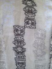 Men's Xl Tiki Shirt Hawaiian Style Puritan Button Up