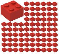 ☀️100x NEW LEGO 2x2 RED Bricks (ID 3003) BULK Parts Heart Valentines town City
