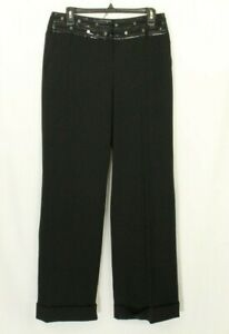 MUGLER Womens Pants Black with Sequin Trouser Size 10