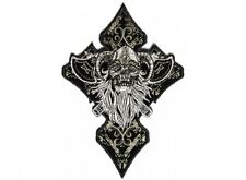 """(F7) CELTIC GHOST SKULL 3.25"""" x 4.75"""" iron on patch (4658) Biker Vest Patches"""