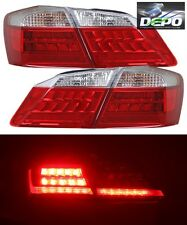 2013-2015 Honda Accord Sedan 4D LED Red Clear Tail Lights 4 Pcs by DEPO