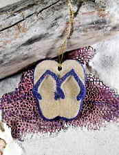 FLIPFLOPS on a string PURPLE Made with Sand Tropical Beach Ornament