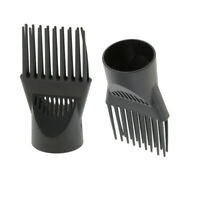 Pack of 2 Salon Anti-frizz Blow Dryer Comb Hair Dryer Blower Nozzle Tools Set