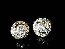 750 Gold Ohrstecker grosse Spiralen 11,0 mm mit 1 Paar mit Zirkonia Steinen