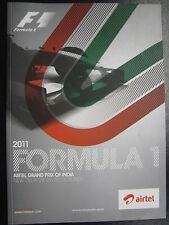 Program 2011 Formula 1 Airtel Grand Prix of India 28-30 October New Delhi (PBE)