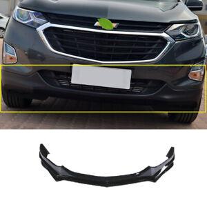 For Chevrolet Equinox 18-21 Carbon Fiber Front Bumper Lip Spoiler Bodykit Refit