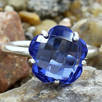 Simulated Tanzanite 925 Sterling Silver Ring Jewelry Size 6-9 DRR1081_C