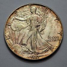 1987 American Silver Eagle Dollar 1 Oz Fine Silver ! Natural Toning,  UNC/MS!