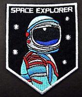 ASTRONAUT Sci-Fi Patch Iron Sew On Applique Badge Space Alien UFO Costume