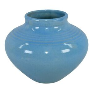 Shearwater Pottery Turquoise Blue Hand Thrown Vase