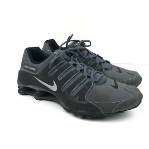 Nike Shox NZ Shoes 378341-059 Dark Grey Anthracite Metallic Running MENS Size 12