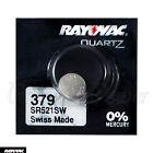 1 x Rayovac 379 battery Silver Oxide 1.55V SR63 SR521SW V379 Watches Swiss