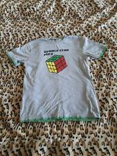 Kids By Lindex Rubiks Cube Boys Grey T-Shirt Size 13-14 Years Cotton Blend