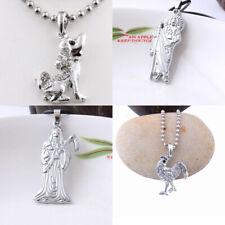 Men Santa Muerte Holy Death Grim Reaper Rooster Chicken Dog Elephant Necklace
