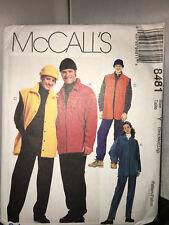 McCALL'S UNCUT PATTERN 8481 MEN'S & MS SHIRT-JACKET-VEST- PANTS & HAT S - M & L