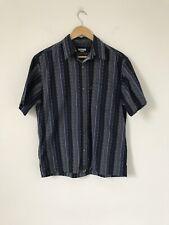 Size Medium Vintage Wavy Paul Smith Blue Short Sleeve Shirt Button Up M2