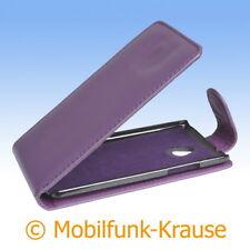 Flip Case Etui Handytasche Tasche Hülle f. HTC One Mini (Violett)
