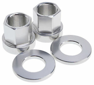 2 x SHADOW CONSPIRACY BMX BICYCLE AXLE NUTS 14mm SUBROSA HARO GT CULT SILVER NEW