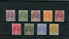 Sarawak Charles Brook stamp set (SG 63-71) dated 1922 Mint.