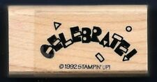 CELEBRATE CONFETTI ARCH upper case Letters Card Words Stampin Up! RUBBER STAMP
