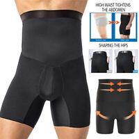 Men's Compression High Waist Boxer Shorts Tummy Slim Body Shaper Girdle Pants