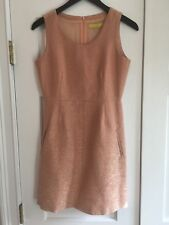Jack Rogers Shimmer Thread Peach Pink Cocktail  Shift Dress Size 2 EUC